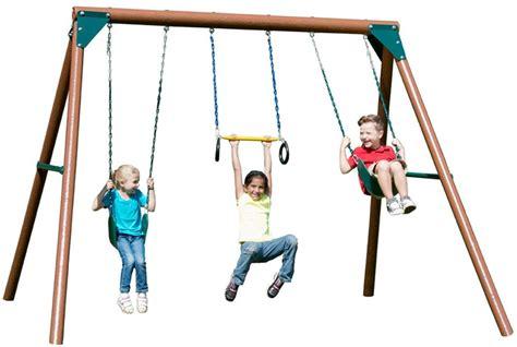 kids wood swing sets 9 unbeatable wooden swing sets for solid backyard fun