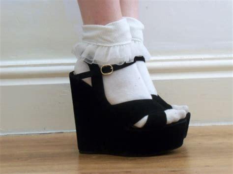 shoes high heels vintage platform