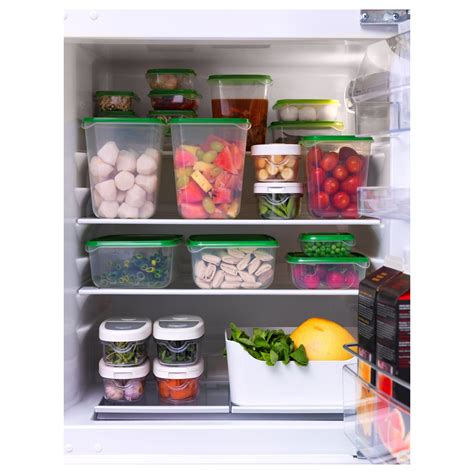 Ikea Pruta 17 Pcs pruta food container set of 17 transparent green ikea