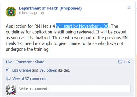 application letter rn heals rn heals 4 application form now available