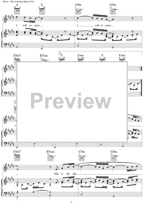 Wedding Song Sheet by This Is The Day A Wedding Song Sheet For Piano