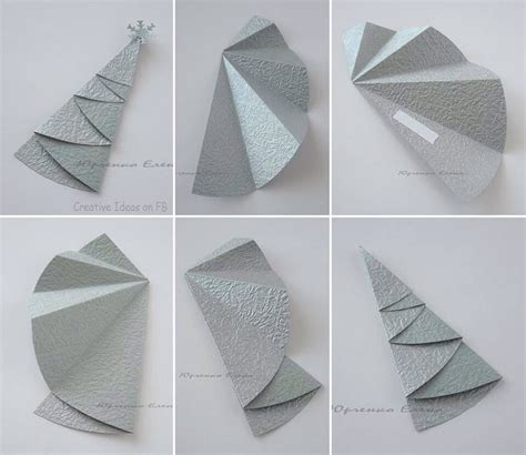 Paper Folding Decorations - fold a circle of paper into a tree for neat