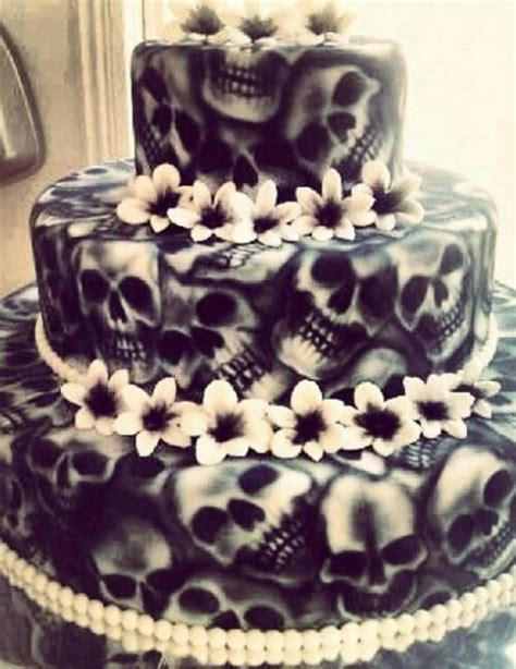 Hochzeitstorte Totenkopf by Skull Wedding Cake Leilaworldblog