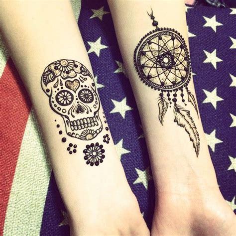 henna tattoo skull designs catcher henna on thigh makedes