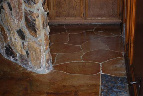 Acid Stain Home Floor Midlothian, TX   ESR Decorative