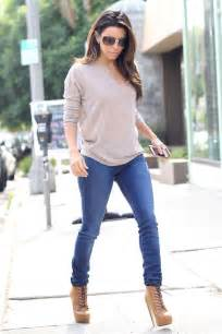 eva longoria gorgeous in skinny jeans loose sweater and