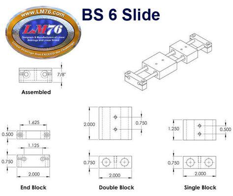 Basic76 Htm basic linear slides from lm76 linear motion bearings