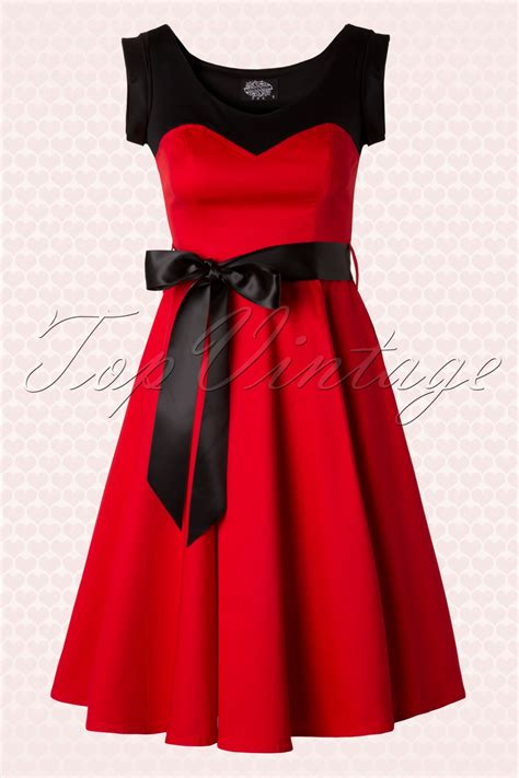 red swing dress vintage 50s sassy sweet swing dress in red