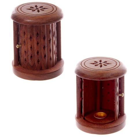 porta incenso fai da te brucia incenso in legno sheesham cilindro decorato con