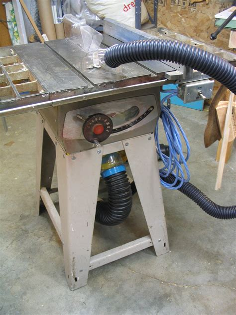 table saw dust collection tablesaw dust collection with shop vac bolis