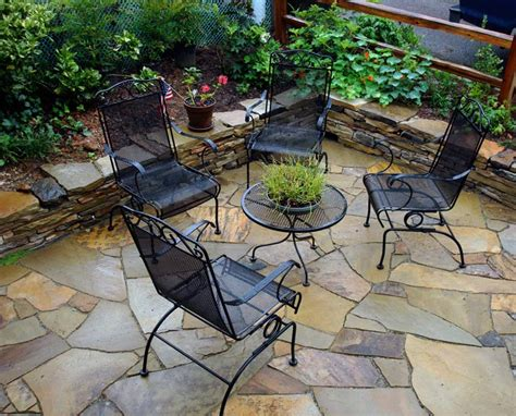 front yard furniture flagstone patios hammerhead stoneworks asheville