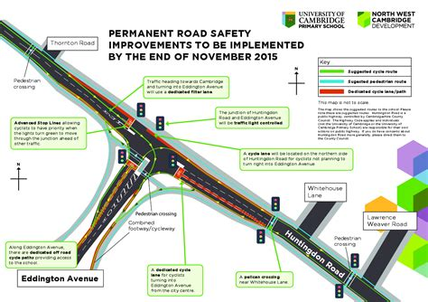 junction design guidelines safer cycling and walking to and from north west cambridge