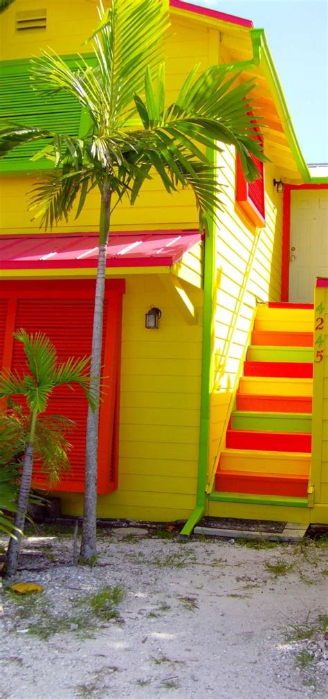 colorful beach houses bright tropical beach home beaches pinterest