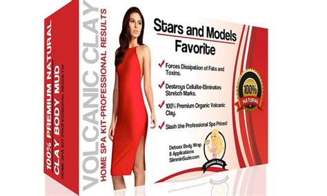 Slim And Detox Wraps by S Organic Detox Volcanic Clay Wraps For Weight