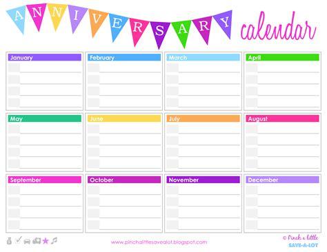 birthday calendar template free download birthday anniversary calendar templates at