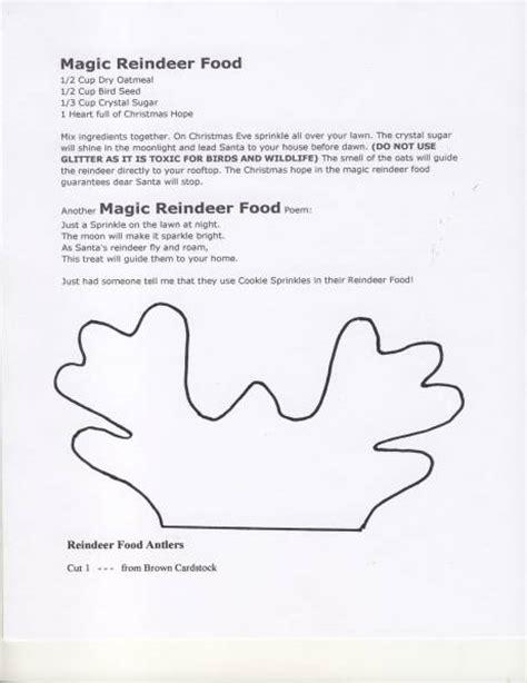 magic reindeer food poem template magic reindeer dust poem new calendar template site
