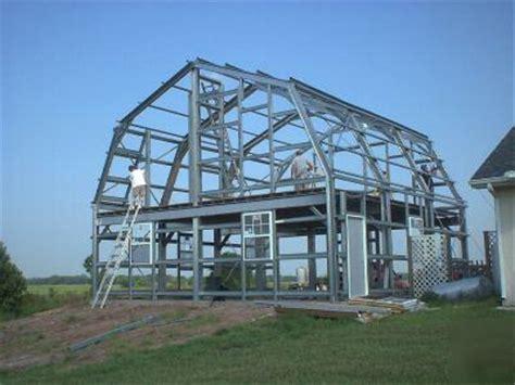 steel gambrel home building kit  floor  sq ft