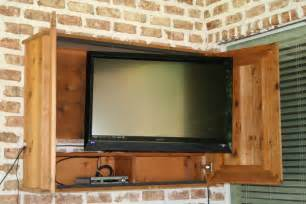 outdoor tv cabinet for the patio diy