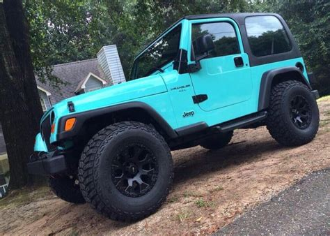 teal jeep rubicon pin by cassidy on vehicles pinterest