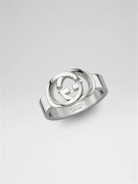 gucci sterling silver g ring in silver lyst
