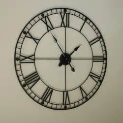 Wall Clocks Black Iron Wall Clock Melody Maison 174