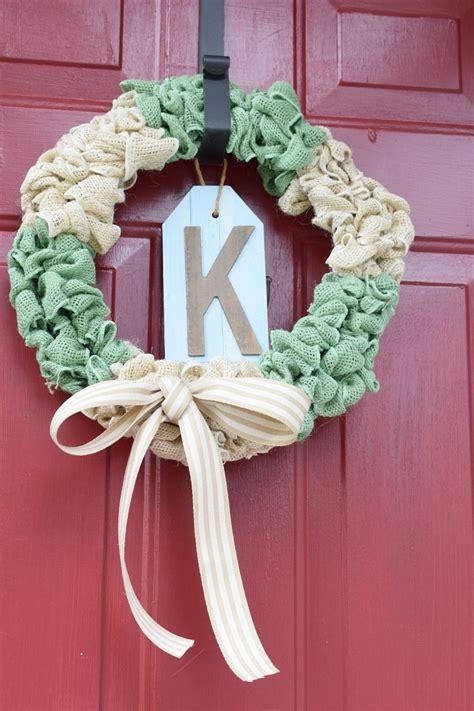 How To Make A Burlap Front Door Wreath