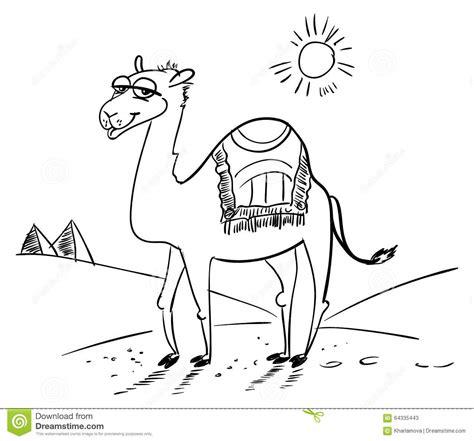 coloring book free vector camel in the desert stock vector image of safari