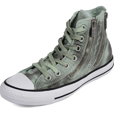 A Zip Code For Shoes by Converse Womens Black Wash Chuck All Dual Zip