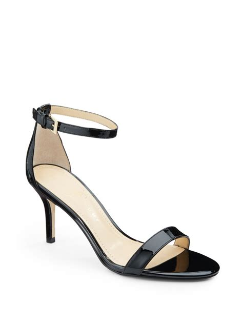 black sandals with ankle ivanka vilma patent leather ankle sandals in