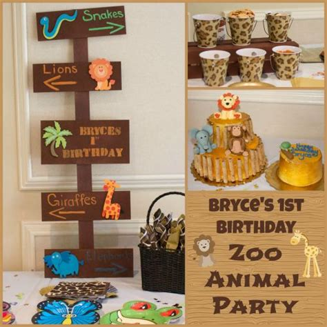 zoo themes party bryce s zoo birthday party