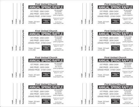 numbered event ticket template free raffle ticket downloadable template new calendar