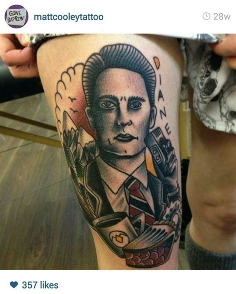 cartoon tattoo artist manchester beautiful twin peaks agent cooper tattoo from incredibly