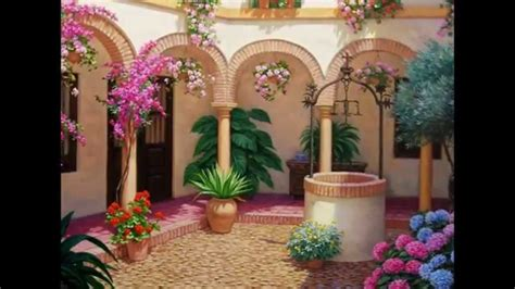 pinturas de patios andaluces pinturas de patios andaluces