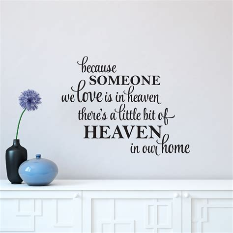 a bit of heaven in our home wall quotes decal