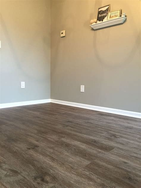 Vinyl Plank Flooring Basement Floors Stainmaster Luxury Vinyl Plank Burnished Oak Fawn Lowes Paint Sherwin Williams