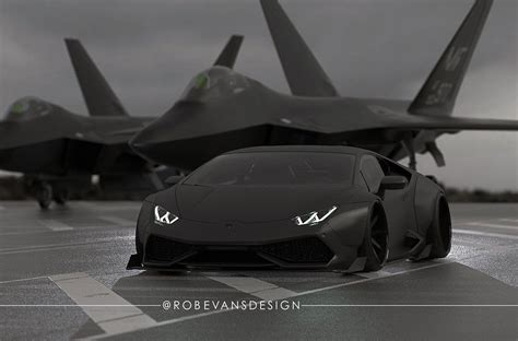 Lamborghini Vs Plane Lamborghini Huracan By Liberty Walk Resembles A Fighter