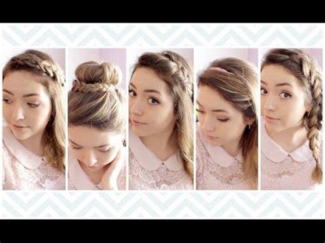 6 peinados faciles rapidos y bonitos para ir a youtube 6 peinados faciles rapidos y bonitos para ir a clase