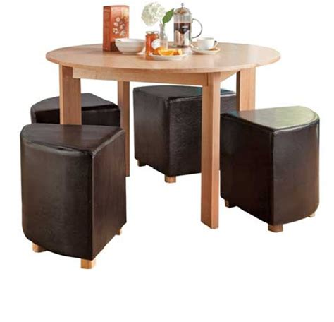 Breakfast Table With Stools Oakford 120cm Ash Veneer Dining Table With 4 Stools