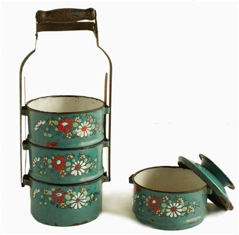 888 Lunch Box 28 best images about enamelware tiffin carrier on