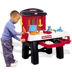 my first craftsman work bench amazon com little tikes my first craftsman workbench toys games