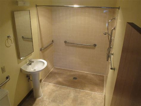 handicapped showers bathrooms 3 way bathroom floor plans wood floors