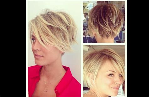 on the big theory new haircut kaley cuoco s short hair stylin short hair pinterest