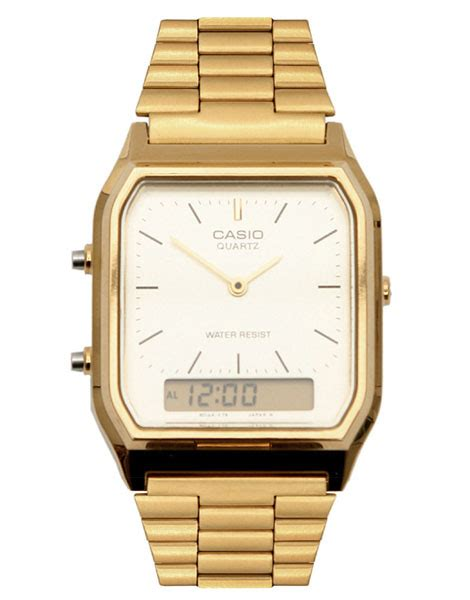 casio gold retro digital suitored