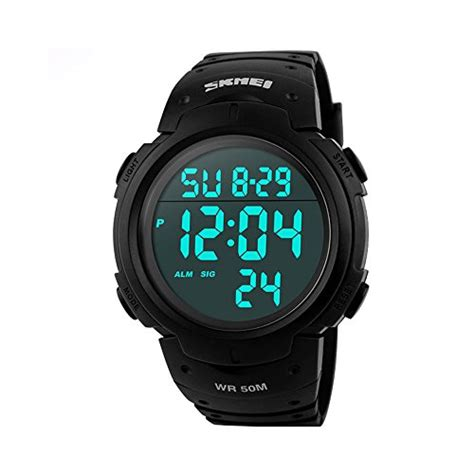 Led Sport Watches Aa W027 White aposon mens digital waterproof sport with outdoor