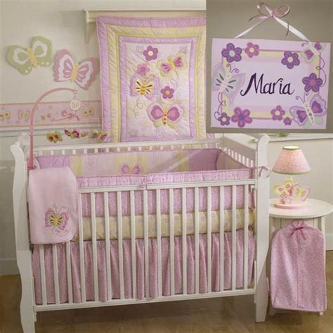 Pink Butterfly Crib Bedding Lambs Pink Butterfly Wallpaper Wallpapersafari
