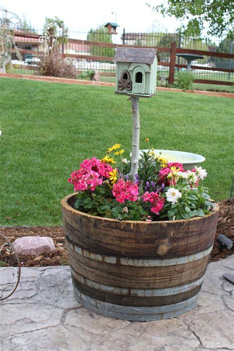 vintage sparkle chic birdhouse planter