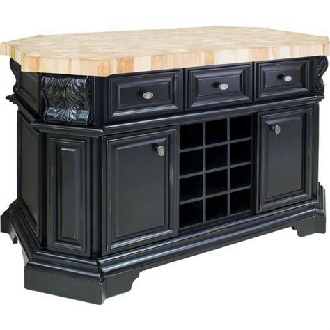 Jeffrey Kitchen Island Jeffrey Acanthus Kitchen Island With Maple