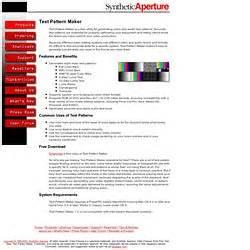 test pattern maker windows video gear newlostworld pearltrees