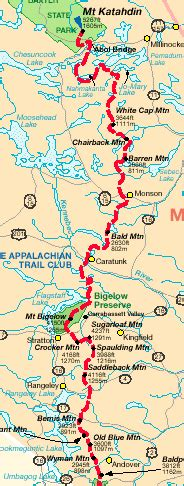 sections of the appalachian trail appalachian trail planner