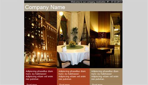 hotel newsletter layout hotel email newsletter templates email newsletter